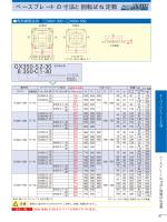 ベースプレートの寸法と回転ばね定数