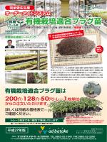 有機栽培適合プラグ苗