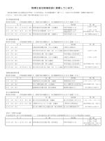 平成26年分所得税・消費税の確定申告 無料相談日程表(PDFファイル