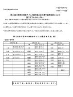 第24回中野杯川崎室内テニス選手権大会の選手選考結果について 第