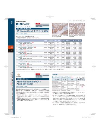 BC(Biocare Clone)モノクローナル抗体 Antibody Sampler