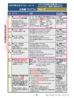 マスターコース必修編 プログラム 20140612