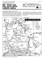 MT. FUJI and The FUJI FIVE LAKES AREA