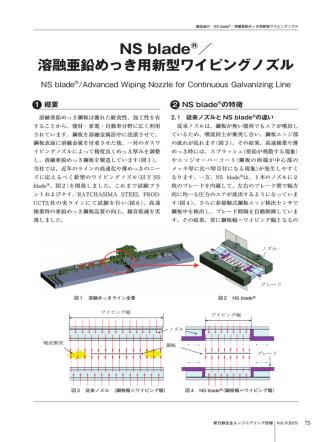 2.NS blade®/溶融亜鉛めっき用新型ワイピングノズル