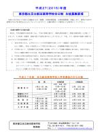 平成27(2015)年度 東京都立足立新田高等学校全日制 生徒募集要項