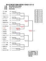 第65回東海五県軟式野球大会組み合わせ