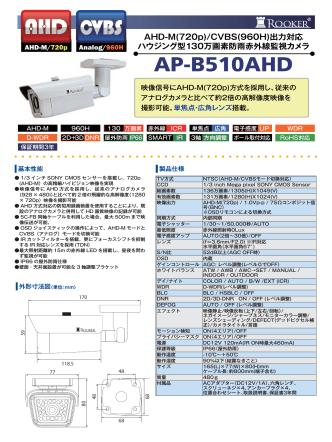 AP-B510AHD AHD-M(720p)/CVBS(960H)