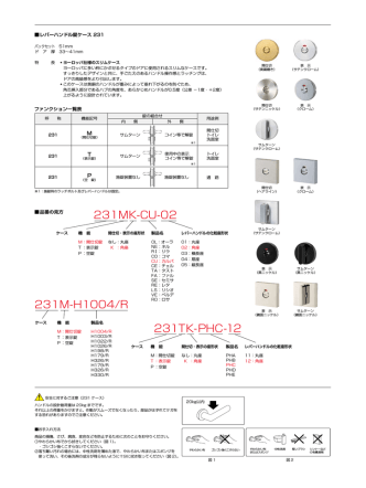231M-H1004/R 231MK-CU-02 231TK-PHC-12