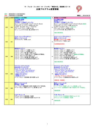 4月25日付プログラム更新情報