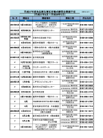 食品衛生責任者養成講習会開催予定表 (PDF
