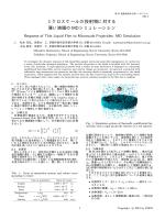 E01-3: ミクロスケールの投射物に対する薄い液膜のMDシミュレーション