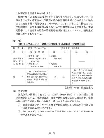 20.RI計器を用いた盛土の締固め管理要領(案)