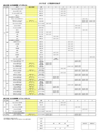 2015年度 1学期講座登録書
