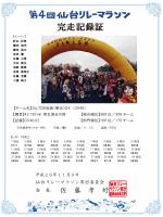 【チーム名】3ん7DE仮装(華走)DX (3046) 【種目】42.195 男女混合の