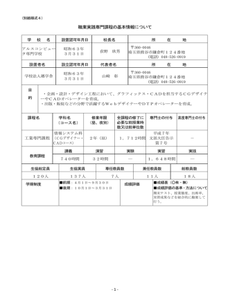 CGデザイナー・CADコース (PDF)