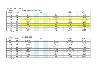2014 GFL-U12 グループリーグ 4月19日 SGC武儀生涯学習センター