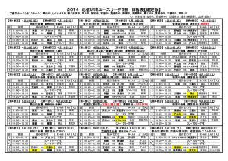 2014 北信U15ユースリーグ3部 日程表【確定版】