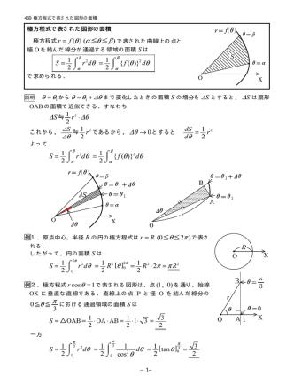469 極方程式で表された図形の面積