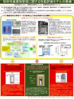 放射性廃棄物管理に関する性能評価モデルの整備