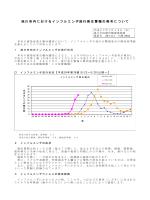 旭川市内におけるインフルエンザ流行発生警報の発令について