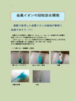 金属イオンの回収法 - SCHOLA-SHISHI