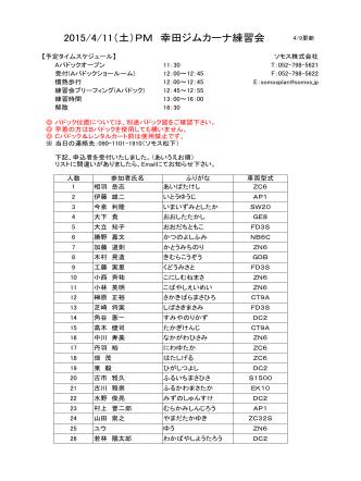 2015/4/11(土)PM 幸田ジムカーナ練習会
