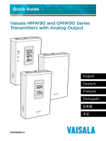 HMW90 and GMW90 Series Analog Output Models Quick