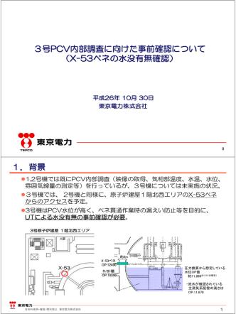 3号PCV内部調査に向けた事前確認について (X