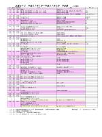 大富士FC 平成27年1月~平成27年3月 予定表 (1/13現在)