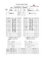 小矢部RED OX 八頭ホッケーチーム 公 式 試 合 記