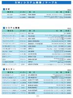 S W / シ ス テ ム 機 器 / ケ ー ブ ル (1)