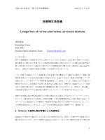 収差補正法各論 Comparison of various aberration correction methods