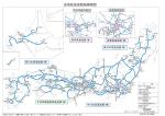 全国高速道路路線網図