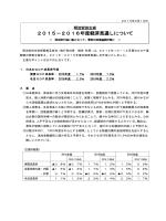 (02/19) 2015-2016年度経済見通しについて