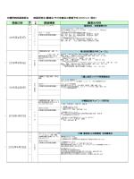 開催日時 開催情報 講演会名称 2015年4月11日 2015年4月15日 2015