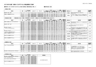 2014年中元期 日清オイリオギフトセット商品規格のご案内