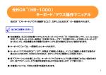 光BOX (HB-1000) キーボード/マウス操作マニュアル