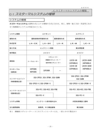 C-1 スミターマルシステムの種類