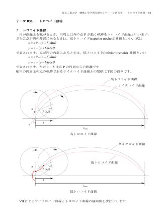 B36. トロコイド曲線