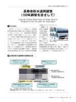 長寿命形水道用鋼管 - 新日鉄住金エンジニアリング株式会社