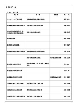 2015年3月31日>アサヒビール;pdf