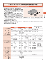 CATV/BS・CS-IF帯域低受光型光端末器