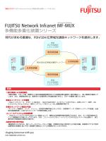 多機能多重化装置シリーズ FUJITSU Network Infranet MF-MUX