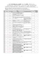 2014年度後期 AGL山田道場 オープン道場 スケジュール (Schedule for