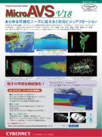 あらゆる可視化ニーズに応える3次元ビジュアリゼーション