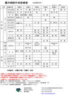 藤井病院外来診療表;pdf