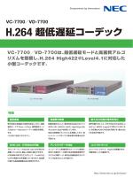H.264 超低遅延コーデック