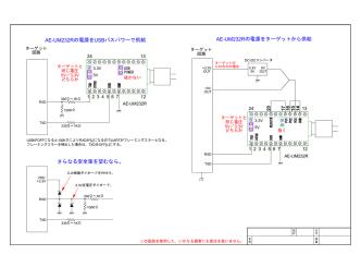 AE-UM232Rの電源をUSBバスパワーで供給 AE-UM232Rの電源