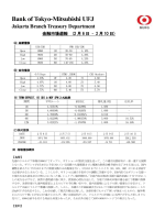 Bank of Tokyo-Mitsubishi UFJ Jakarta Branch Treasury Department