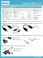 DisplayPort 変換アダプタ